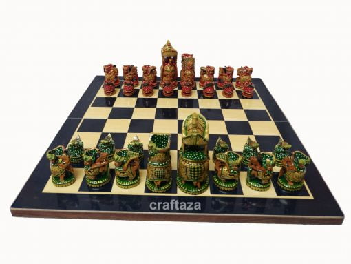 wood hand painted chess