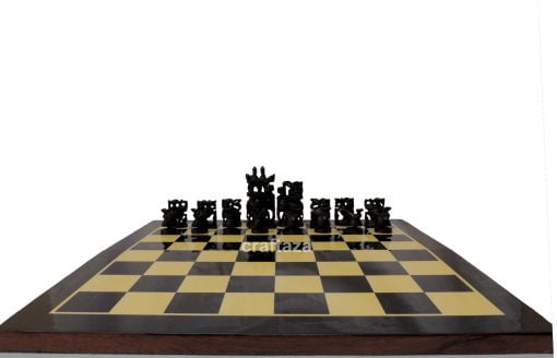 wood hand carved chess set
